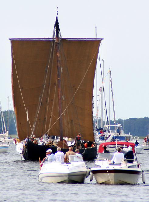 Havhingsten under sejl på en tidligere sejlads, foto: Ib Henrichsen