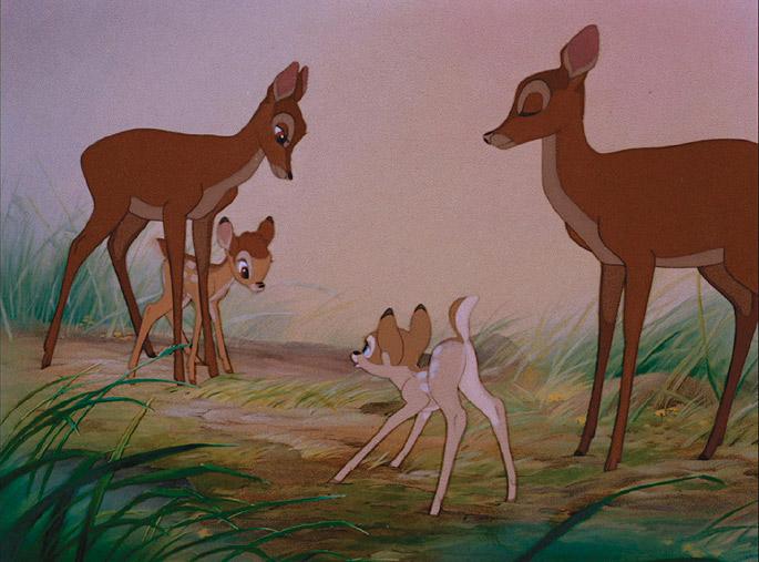 bambi på glatis is tegnefilm